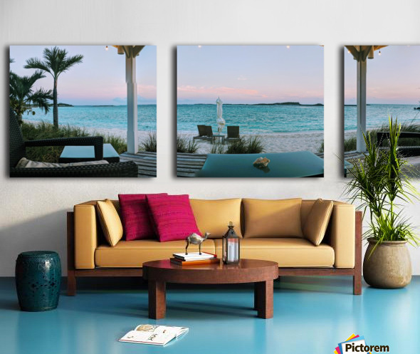 Sunset in Highbourne Cay Split Canvas print