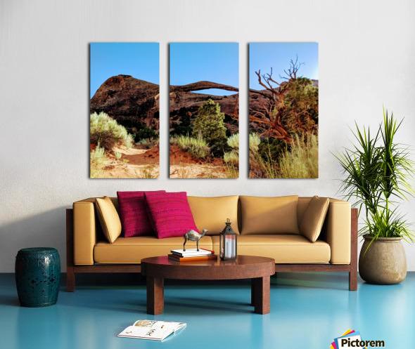 Landscape Arch I Split Canvas print