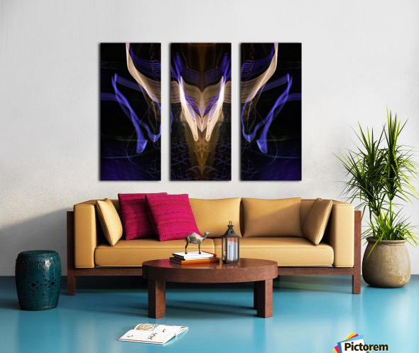 BULL FLUX Split Canvas print