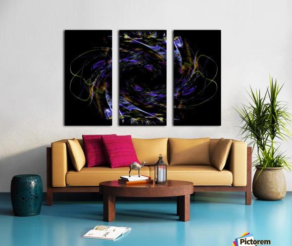 FLOWER OF FLUX Split Canvas print