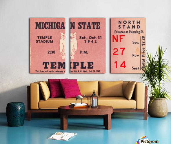 1942 Michigan State vs. Temple Split Canvas print
