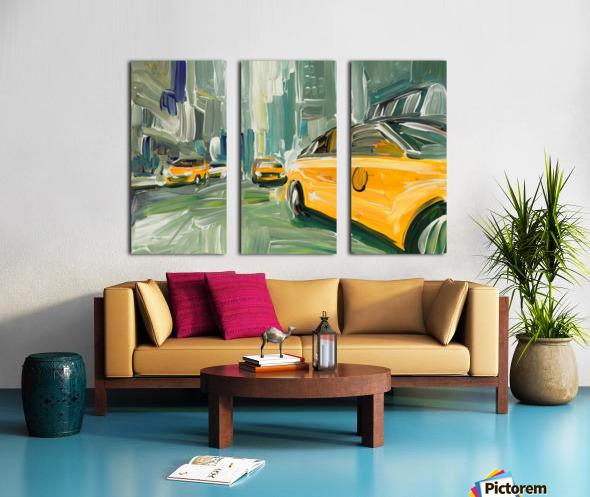Yellow Cabs  Split Canvas print