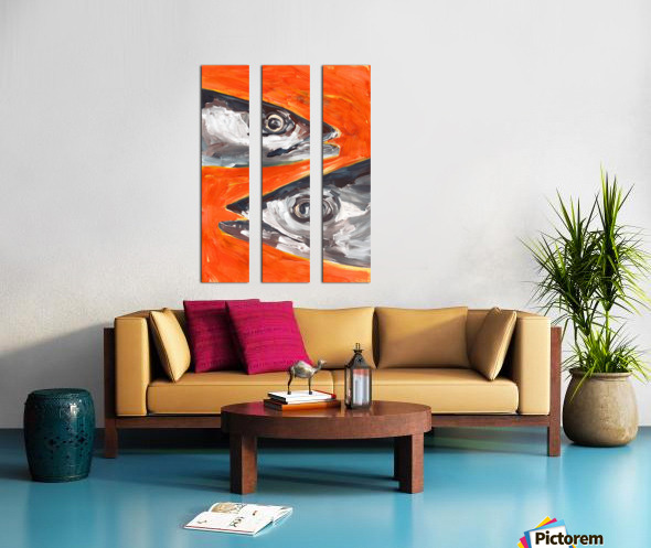 Fresh Fish  Split Canvas print