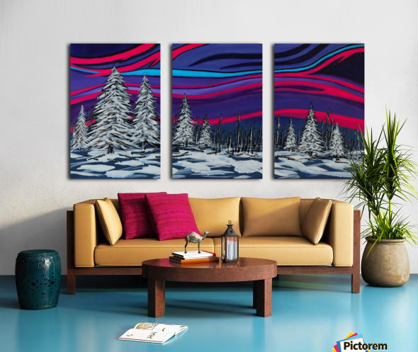 Snowy Trees Chinook Art IMG_0180 Split Canvas print