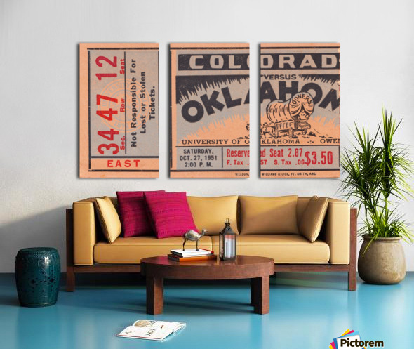 1951 Oklahoma vs. Colorado Split Canvas print