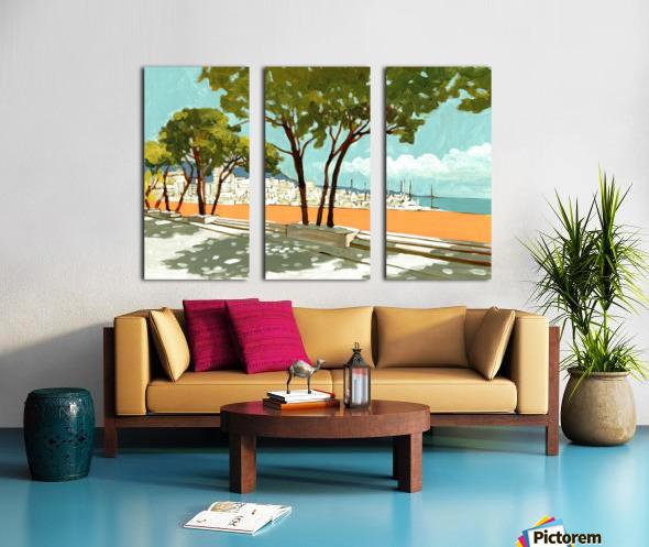 Monaco Split Canvas print