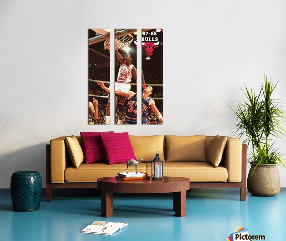 1987 Chicago Bulls Michael Jordan Art Split Canvas print