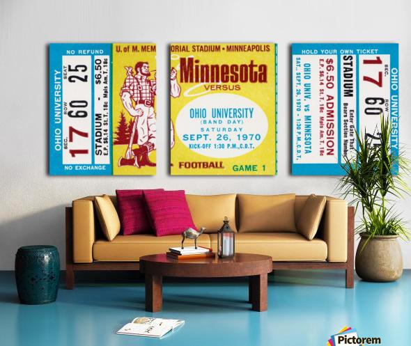 1970 Minnesota vs. Ohio Split Canvas print