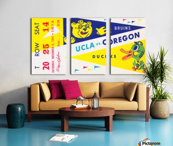 1954 UCLA vs. Oregon Split Canvas print