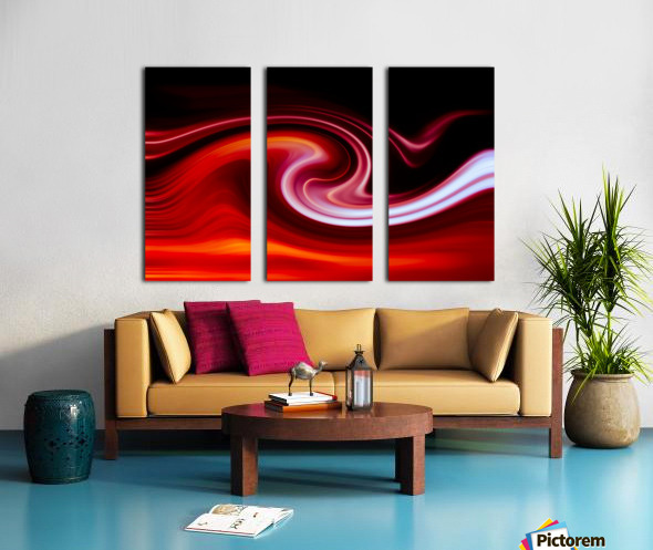 FIRE WAVE Split Canvas print