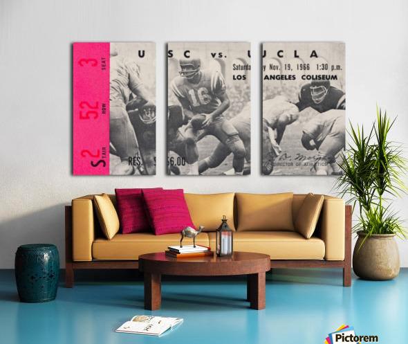 1966 UCLA vs. USC Split Canvas print