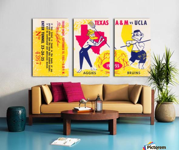 1955 UCLA vs. Texas Split Canvas print