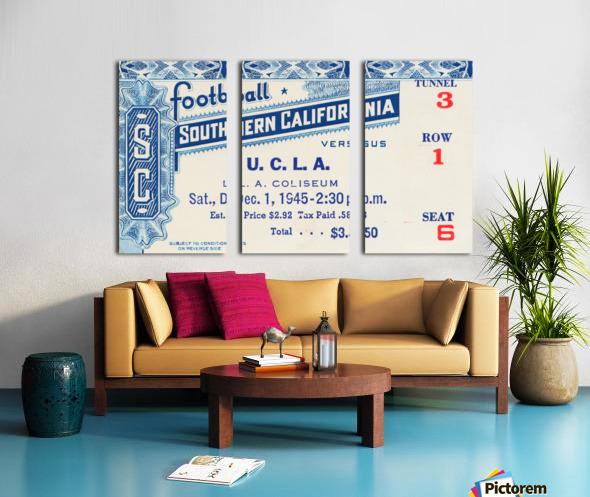 1945 USC vs. UCLA Game 2 Split Canvas print