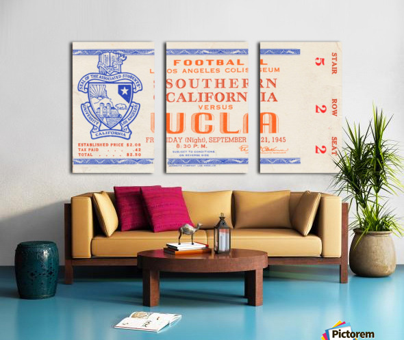 1945 USC vs. UCLA  Split Canvas print