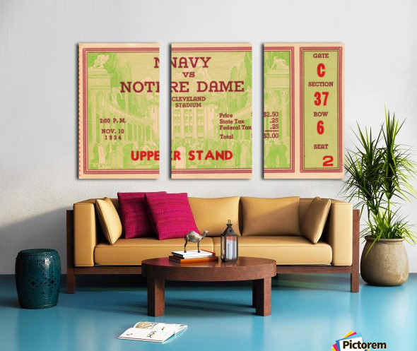 1934 Notre Dame vs. Navy  Split Canvas print