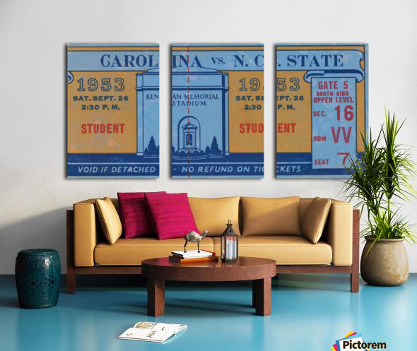 1953 North Carolina vs. NC State Split Canvas print