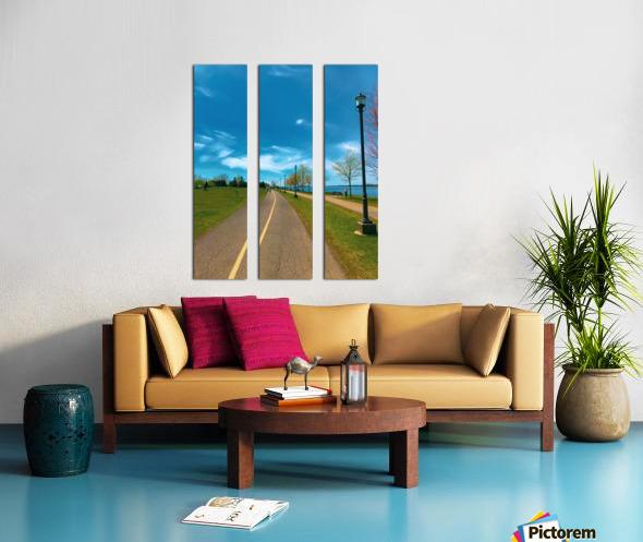 Cycling path Split Canvas print