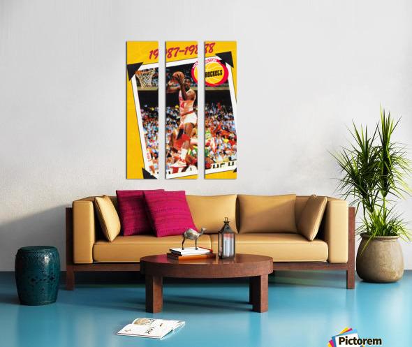 1987 Hakeem Olajuwon Houston Rockets Split Canvas print