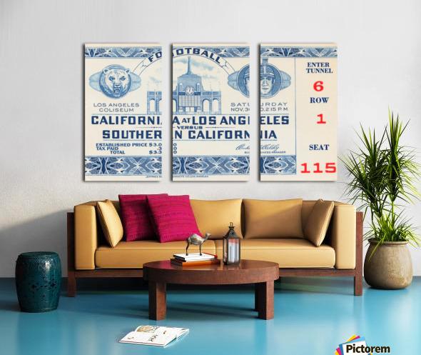 1940 USC vs. UCLA Split Canvas print