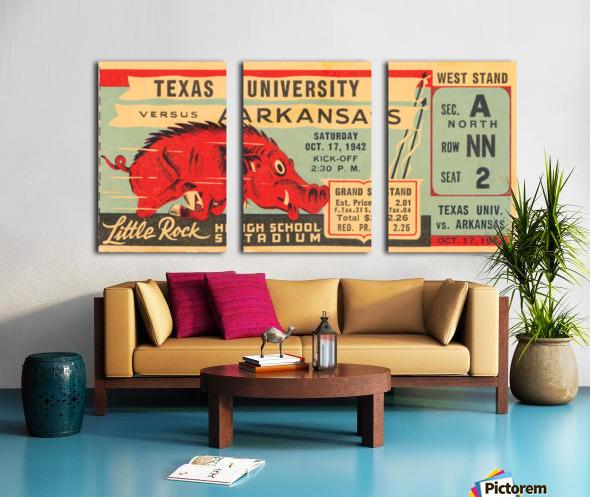 1942 Arkansas vs. Texas Split Canvas print