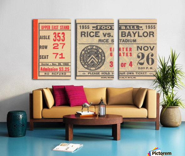 1955 Rice vs. Baylor Split Canvas print