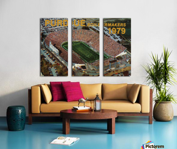 1979 Purdue Ross-Ade Stadium Art Split Canvas print