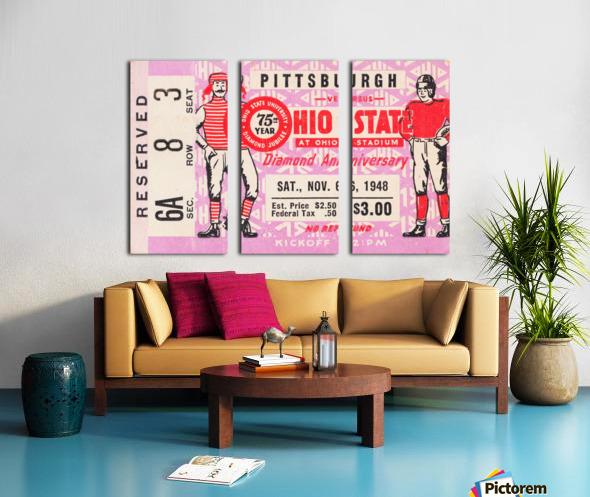 1948 Ohio State vs. Pittsburgh  Split Canvas print