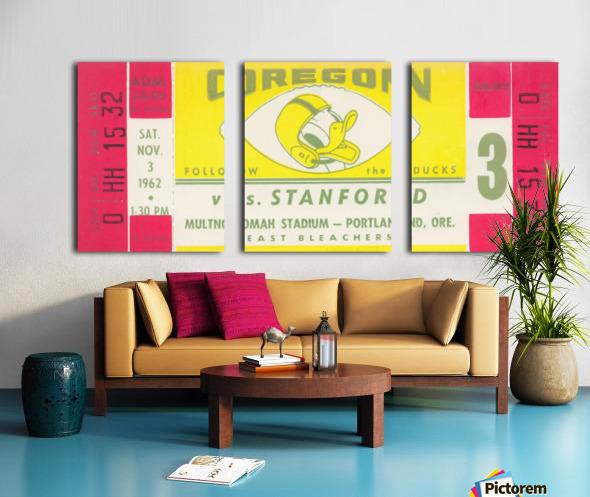 1962 Oregon vs. Stanford Split Canvas print