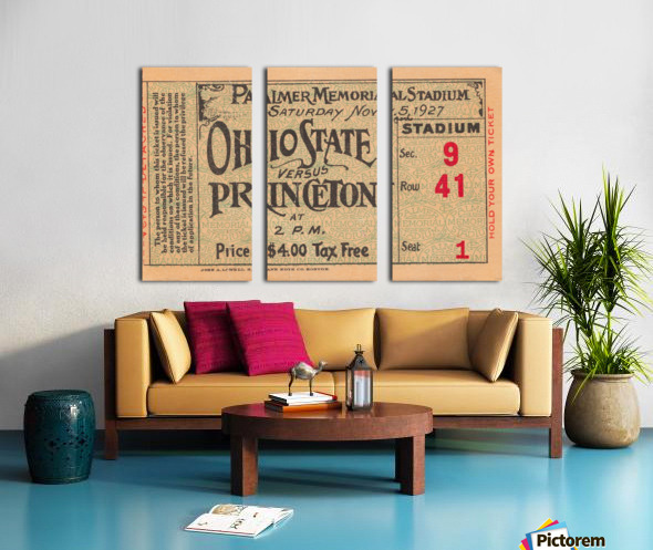 1927 Ohio State vs. Princeton  Split Canvas print