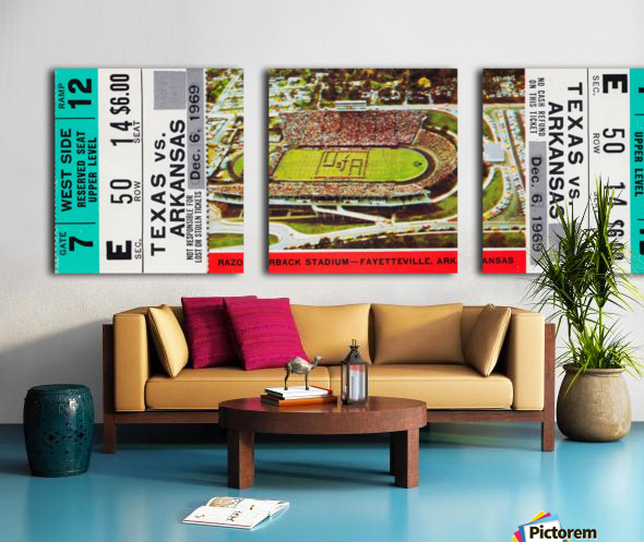 1969 Game of the Century Split Canvas print