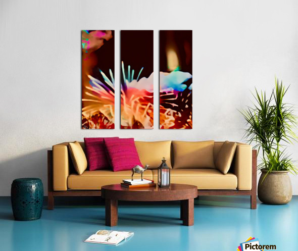 Anemone in the Luminescence Seas of My Soul Split Canvas print