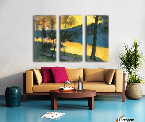 Landscape by Lesser Ury Split Canvas print