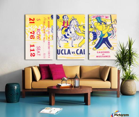 1957 UCLA vs. California  Split Canvas print