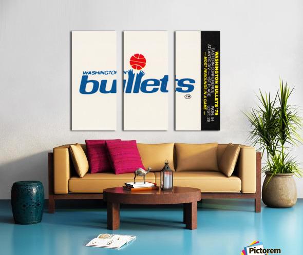 1979 Washington Bullets Fleer Decal  Split Canvas print