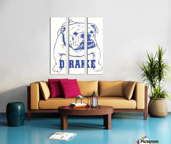 1950s Drake Bulldog Art Split Canvas print