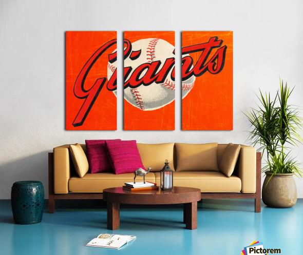 1960s San Francisco Giants Art Split Canvas print