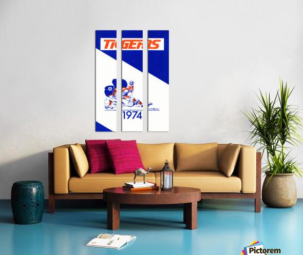 1974 Detroit Tigers Art Split Canvas print