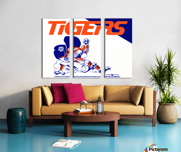 Tigers Cartoon Split Canvas print