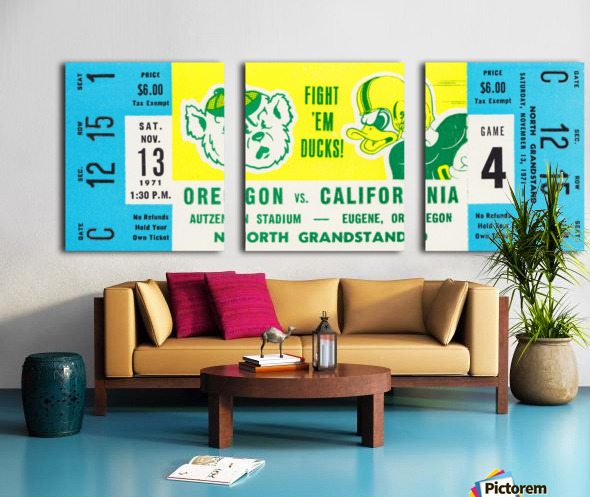 1971 Oregon vs. California Split Canvas print