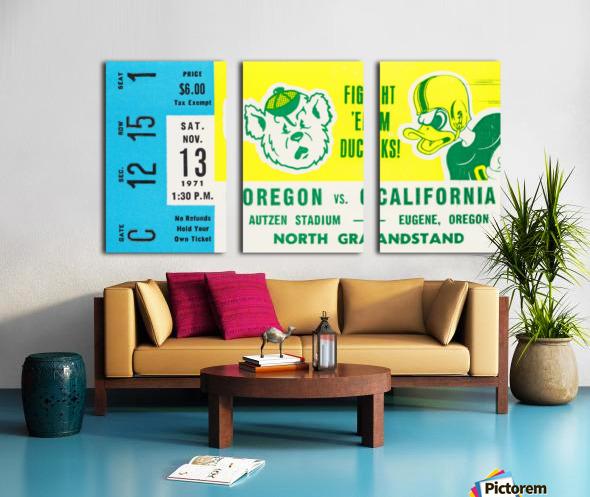 1971 California vs. Oregon Split Canvas print