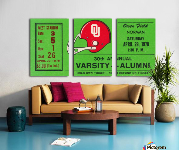 1978 Oklahoma Sooners Varsity Alumni Game Split Canvas print