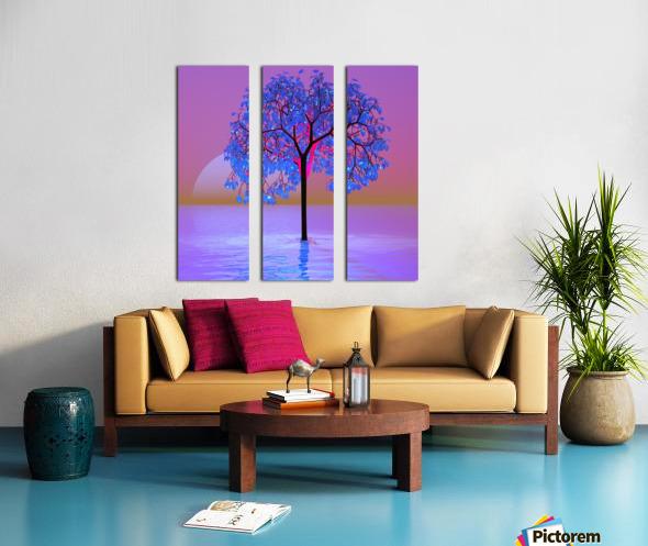 Tree Sunset Split Canvas print
