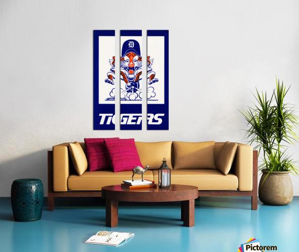 1972 Detroit Tigers Art Split Canvas print