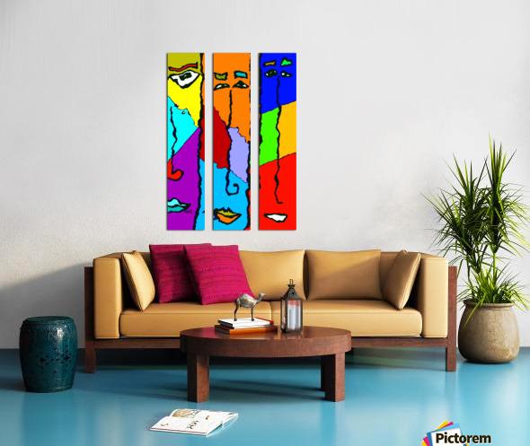 Three Friends Split Canvas print