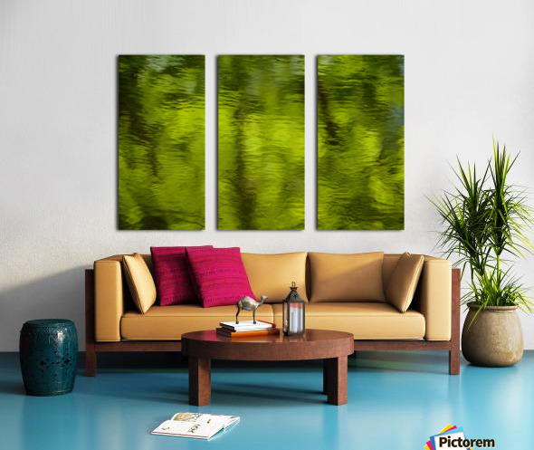 Flowing reflections spring Split Canvas print