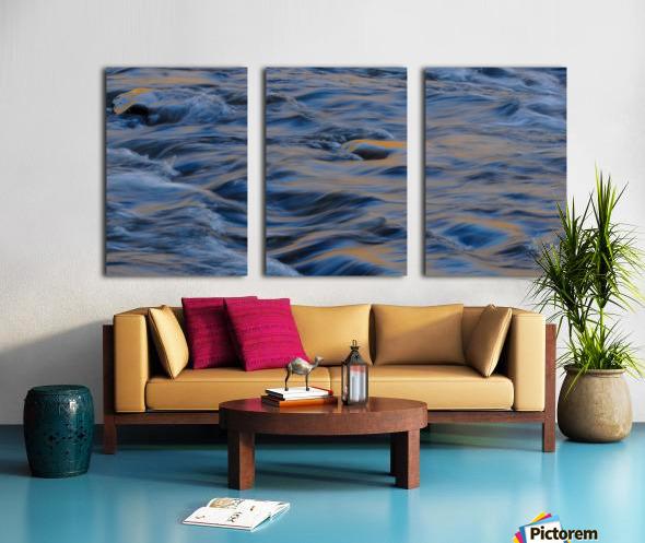 Flowing reflections 3 Split Canvas print