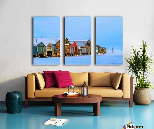 Boat Houses Split Canvas print