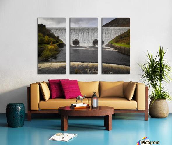 The Elan Valley dam Split Canvas print