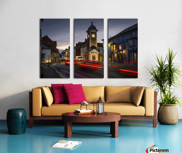 Rhayader town clock tower Split Canvas print