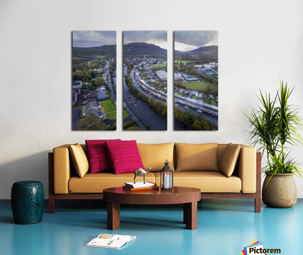 The river Tawe in Ystradgynlais Split Canvas print
